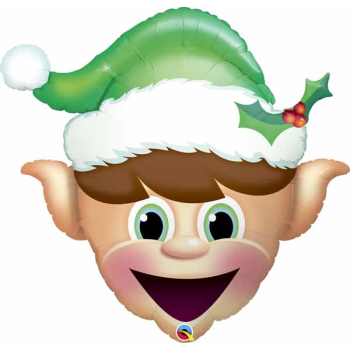 "Image de 36"" - CHRISTMAS ELF HEAD SUPER SHAPE"