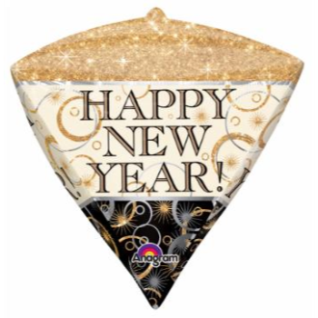 "Picture of 17"" FOIL - GEOMETRIC NEW YEAR SPARKLE DIAMOND ULTRASHAPE"