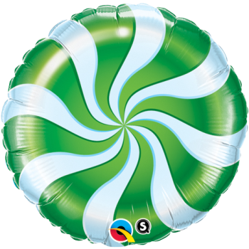 "Picture of 18"" FOIL - CANDY SWIRL GREEN"