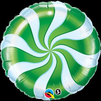 """Image de 18"""" FOIL - CANDY SWIRL GREEN"""