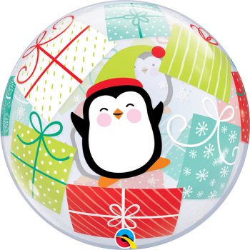 "Image de 22"" BUBBLE - PENGUINS AND PRESENTS"