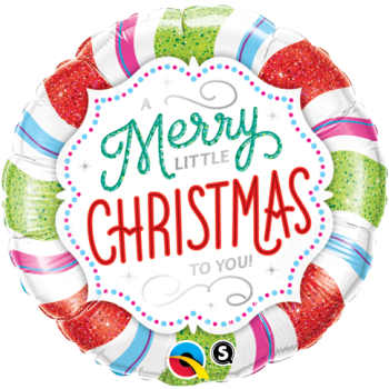 "Image de 18"" FOIL - MERRY LITTLE  CHRISTMAS"