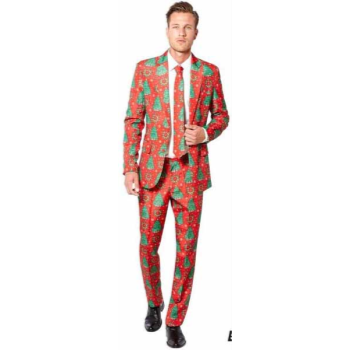 Image de WEARABLES - CHRISTMAS TREE RED MEN'S SUIT - LARGE