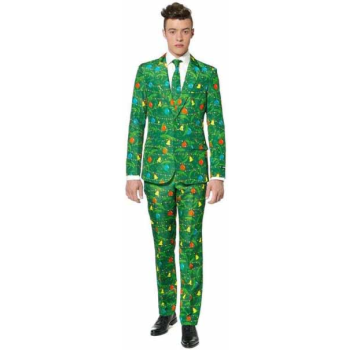Image de WEARABLES - CHRISTMAS GREEN TREE MEN'S SUIT - MEDIUM