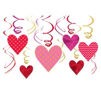 Picture of DECOR - VALENTINE HEARTS VALUE SWIRLS