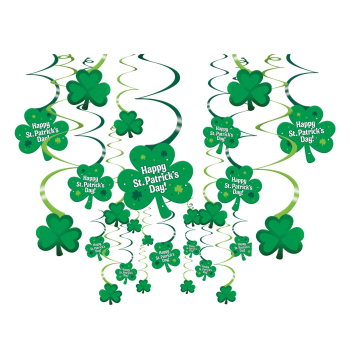 Picture of DECOR - ST PAT'S CLOVER SWIRLS