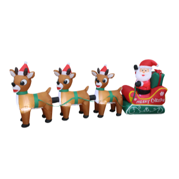 Image de DECOR - INFLATABLE 7' SANTA AND SLEIGH