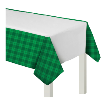 Picture of TABLEWARE - PLAID PLASTIC TABLE COVER - ST PAT'S