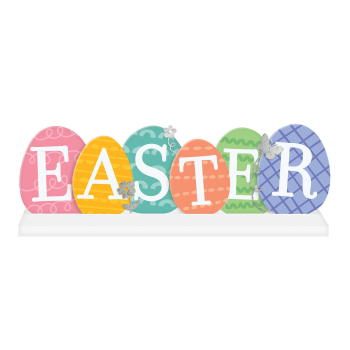 Picture of DECOR - EASTER EGG STANDING SIGN