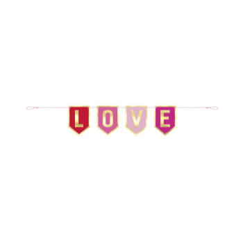 Picture of DECOR - LOVE PENNANT BANNER FOIL BANNER - 3FT