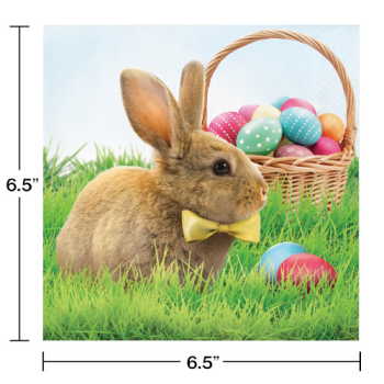 Picture of TABLEWARE - EASTER BUNNY AND BASKET LUNCHEON NAPKINS