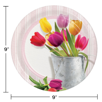"""Picture of TABLEWARE - SPRINGTIME TULIPS 9"""" PLATES"""