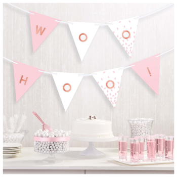Picture of DECOR - PENNANT BANNER CUSTOMIZABLE - ROSE GOLD