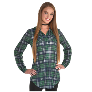 Picture of WEARABLES - GREEN PLAID SHIRT SMALL/MEDIUM