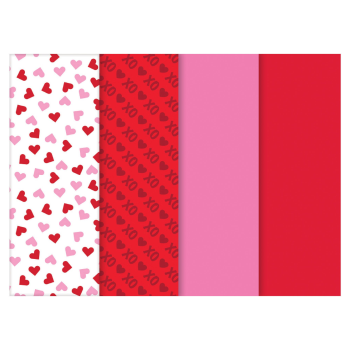 Picture of DECOR - GIFT - VALENTINE'S DAY PRINTED TISSUE PACK