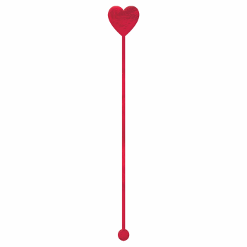 Picture of DECOR - HEART PLASTIC DRINK STIRRERS