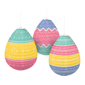 Picture of DECOR - EGG SHAPED PAPER LANTERNS