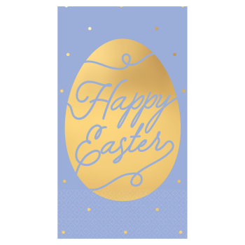 Picture of TABLEWARE - HAPPY EASTER HOT STAMPED GUEST TOWELS