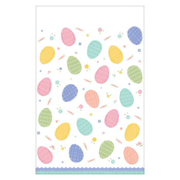 Picture of TABLEWARE - PRETTY PASTELS EASTER PLASTIC TABLE COVER
