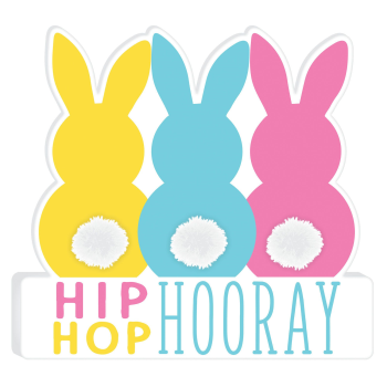 Picture of DECOR - HIP HOP HOORAY BUNNY SIGN