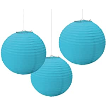 Picture of CARRIBEAN BLUE PAPER LANTERNS - 9 1/2""