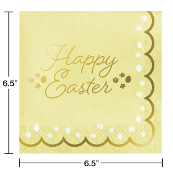 Picture of TABLEWARE - GOLDEN EASTER FOIL STAMPED LUNCHEON NAPKINS