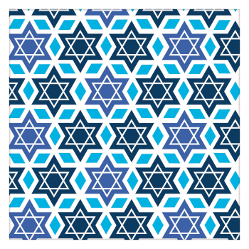 Picture of DECOR - HANUKKAH WRAPPING PAPER - STAR OF DAVID