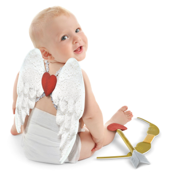Picture of WEARABLES - VALENTINE'S DAY CHILD CUPID KIT - 0-6 MONTHS