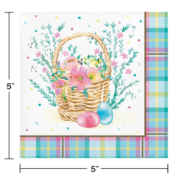 Picture of TABLEWARE - STORYBOOK EASTER BUNNY BEVERAGE NAPKINS