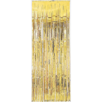 Image de GOLD METALLIC CURTAIN - 3'X8'
