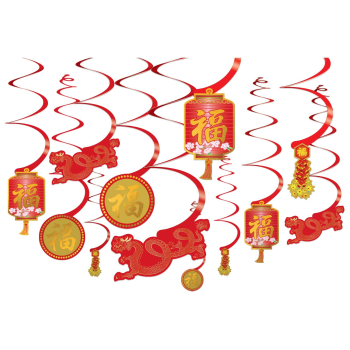 Picture of DECOR - CHINESE NEW YEAR SWIRL DECORATIONS