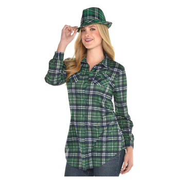 Picture of WEARABLES - GREEN PLAID SHIRT - ADULT LARGE/XLARGE