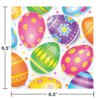 Picture of TABLEWARE - COLORFUL EASTER EGGS LUNCHEON NAPKINS