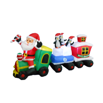 Image de DECOR - INFLATABLE 6' SANTA TRAIN