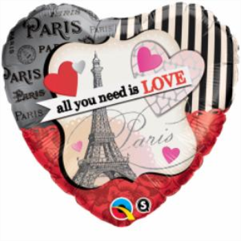 """Picture of 18"""" FOIL - ALL YOU NEED IS LOVE"""