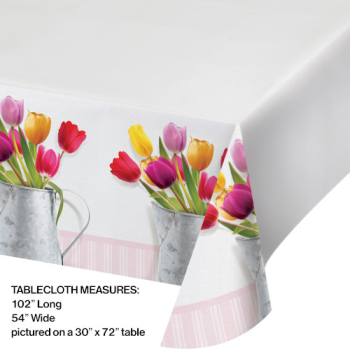 Picture of TABLEWARE - SPRINGTIME TULIPS TABLE COVER
