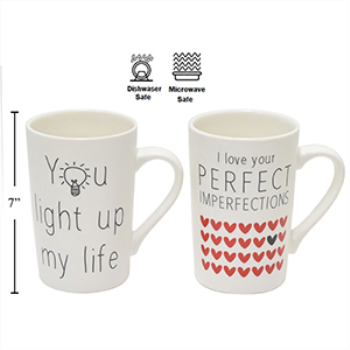 Picture of DECOR - VALENTINE'S CHINA MUG - 2 ASSORTED STYLES