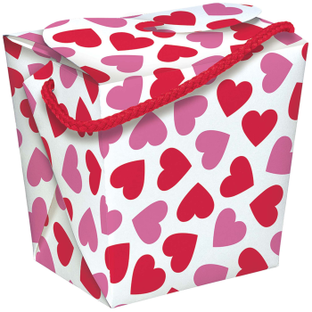 Picture of DECOR - PRINTED HEARTS QUART PAIL