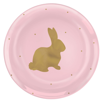 """Picture of TABLEWARE - EASTER PLASTIC 7"""" PINK PLATE"""