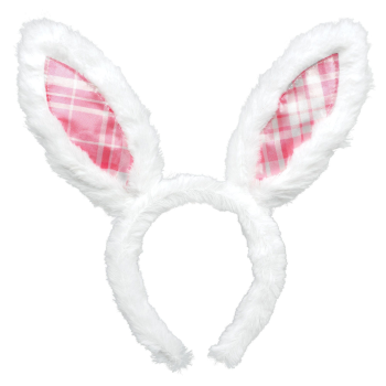 Picture of WEARABLES - BUNNY EARS PINK PLAID