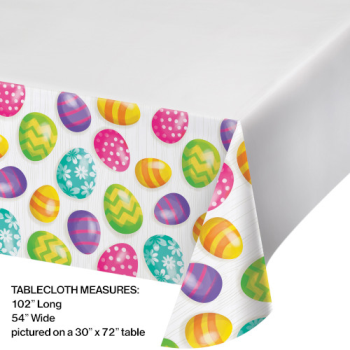 Picture of TABLEWARE - EASTER EGGS PLASTIC TABLE COVER