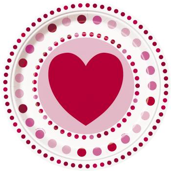 "Image de TABLEWARE - RADIANT HEARTS 9"" PLATES"