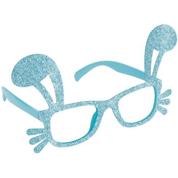Picture of WEARABLES - BUNNY SHAPED GLITTER GLASSES - BLUE