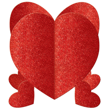 Picture of DECOR - MINI 3D HEART GLITTER CENTERPIECE
