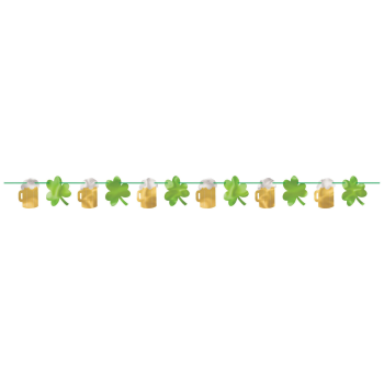 Picture of DECOR - BEER & SHAMROCK FOIL BANNER
