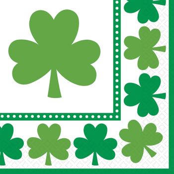Picture of TABLEWARE - LUCKY SHAMROCKS LUNCHEON NAPKINS