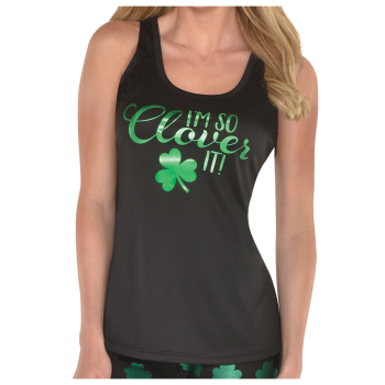Picture of WEARABLES - BLACK TANK TOP CLOVER - ADULT STANDARD