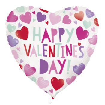 """Picture of 18"""" FOIL - VALENTINE HEART BALLOON"""