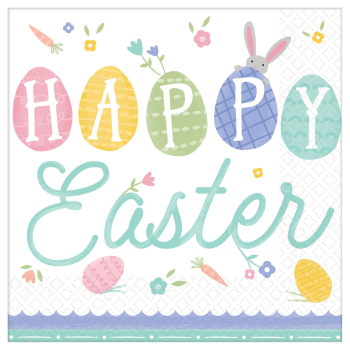 Picture of TABLEWARE - PRETTY PASTELS EASTER LUNCHEON NAPKINS