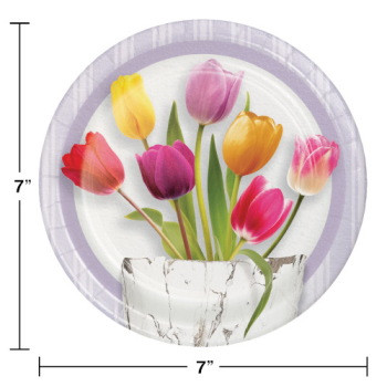"""Picture of TABLEWARE - SPRINGTIME TULIPS 7"""" PLATES"""